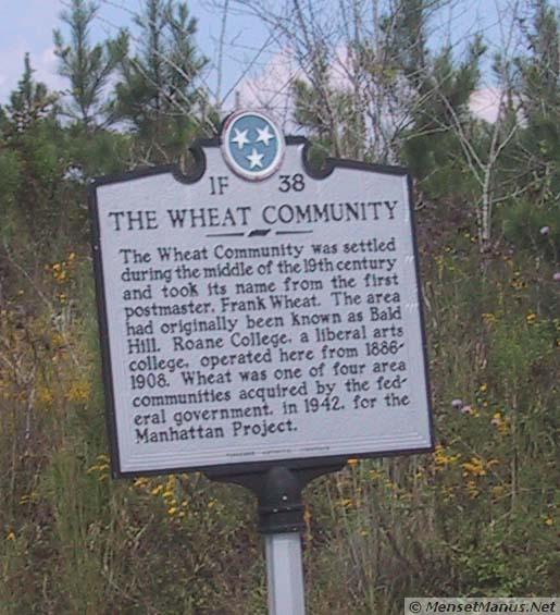 Wheat Community Historic Marker.