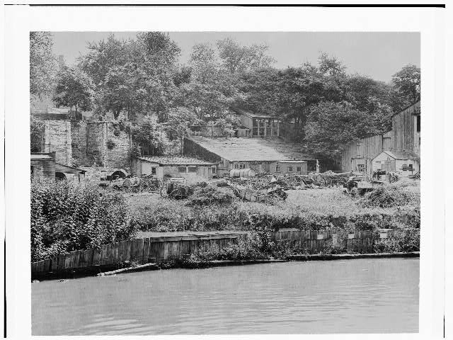View of the kilns from the waterfront in the 1930s