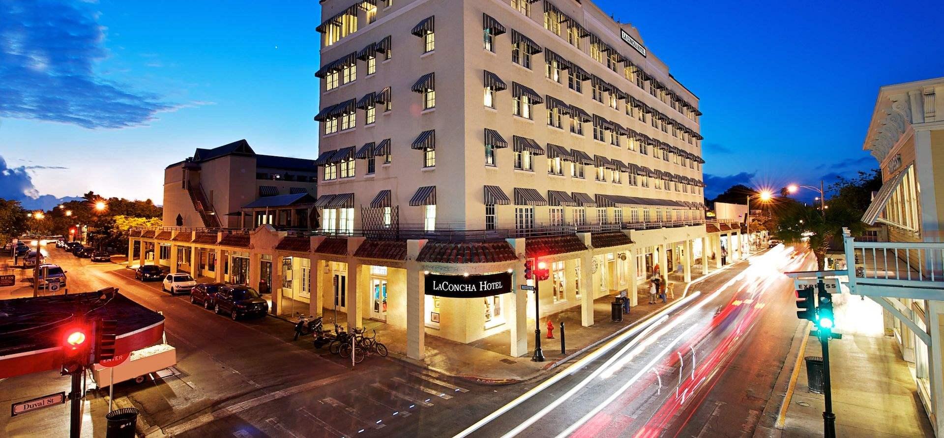 Modern view of the La Concha hotel