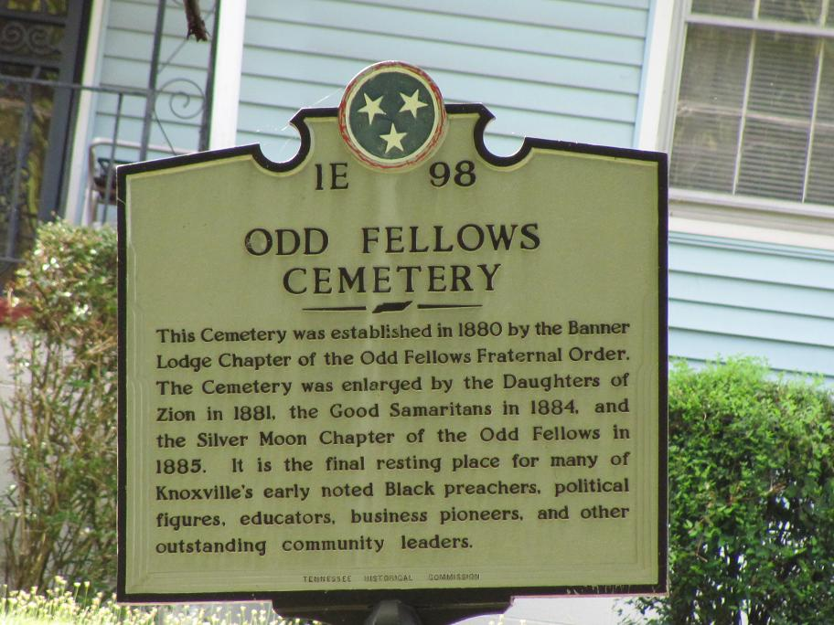 Odd Fellows Cemetery Historic marker