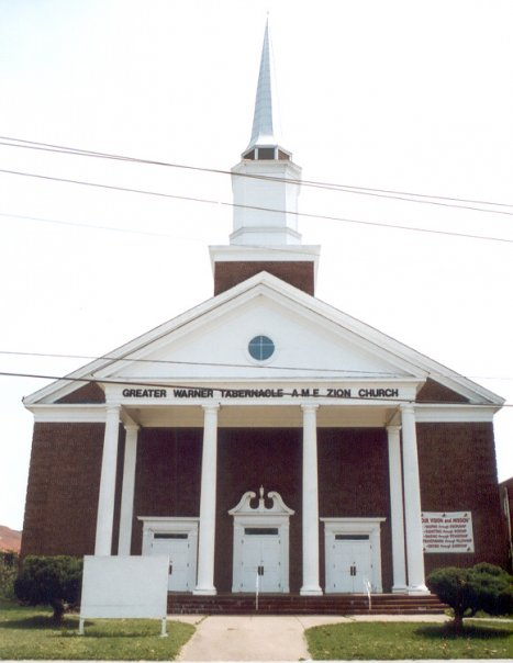 Greater Warner AME Zion church building today.