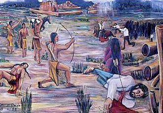 Artistic depiction of the Pueblo Revolt