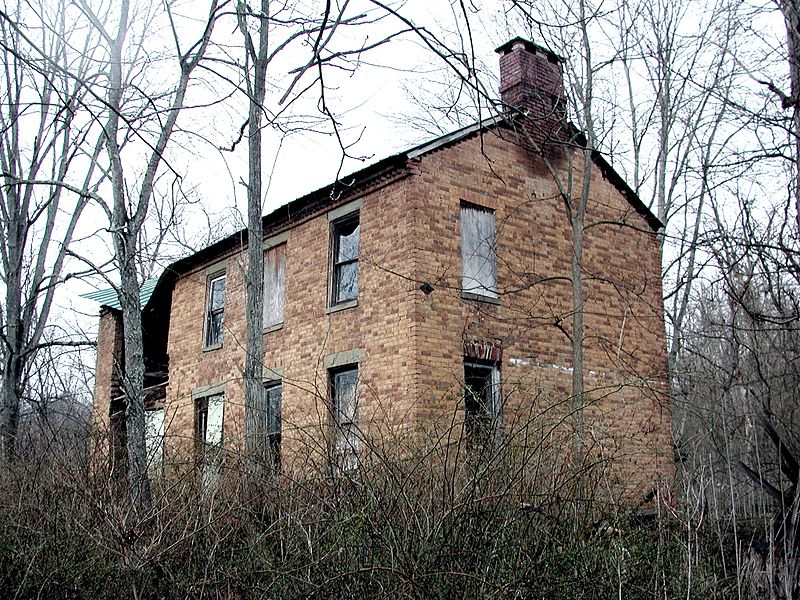 This decaying farmhouse belonged to a Revolutionary War officer who operated a farm along the bottom land of the Hickory River during the early 19th century.