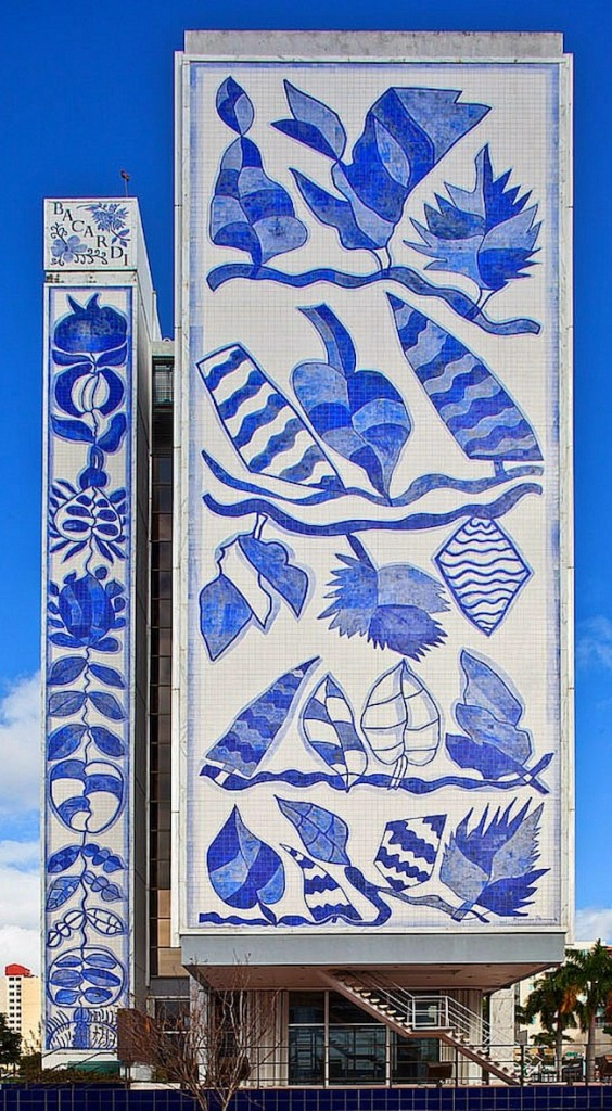 One side of the Bacardi Tower's azulejo mural which includes 28,000 tiles.