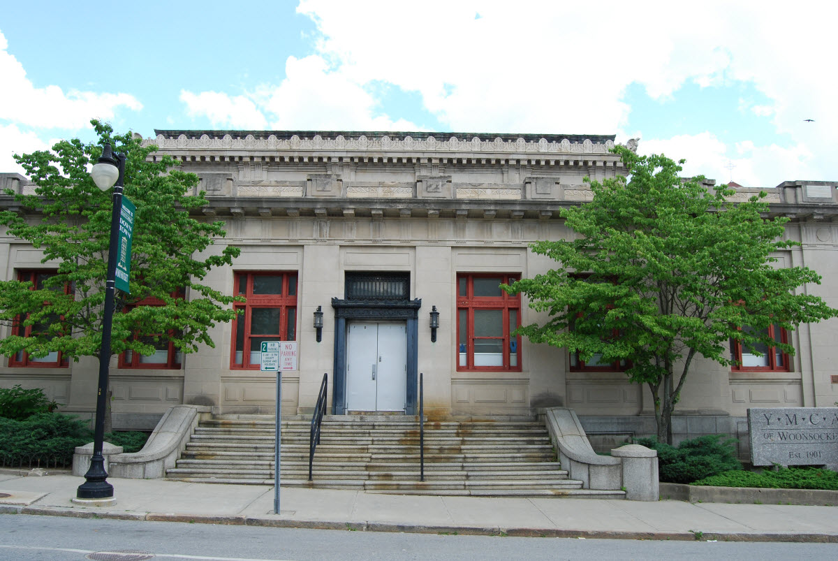 The former United States Post Office in Woonsocket, now a YMCA branch.