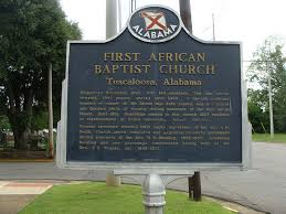 This historical marker stands outside of the church.
