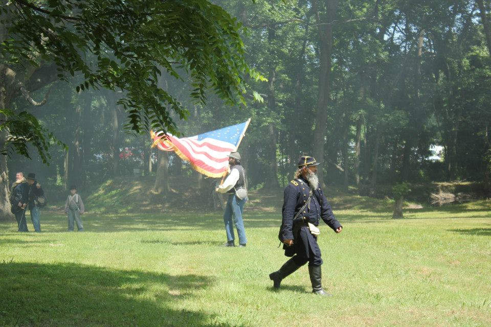 Union general (2013 reenactment) Photo by Amber M. Wright