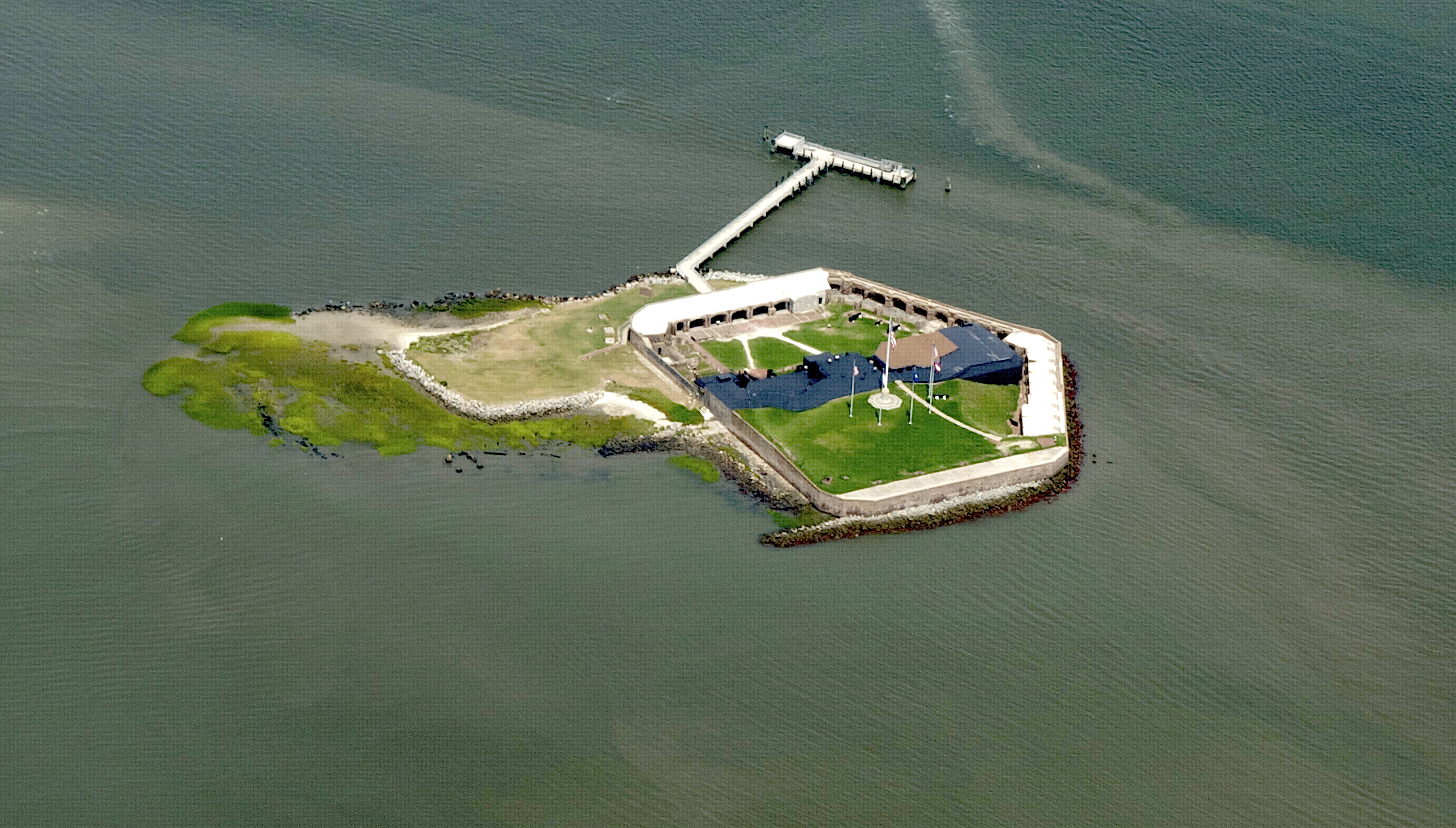 Aerial View of Fort Sumter today