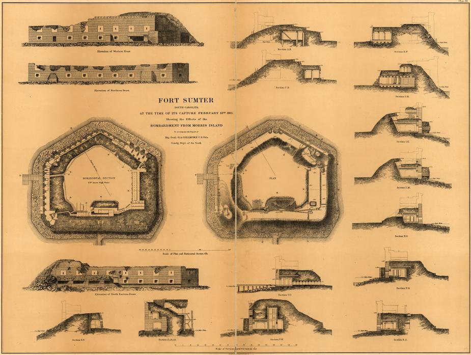 Fort Sumter Diagram