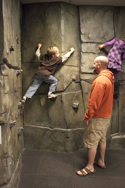 Climbing the Rock Wall