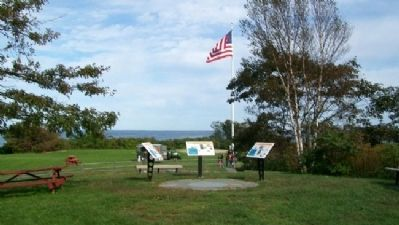 Looking North, East, and South Markers in Fort Williams Park