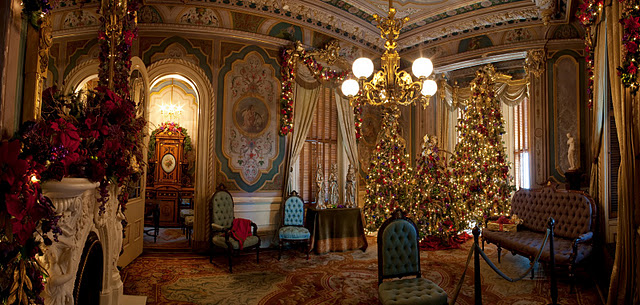 Parlor Room During Christmas