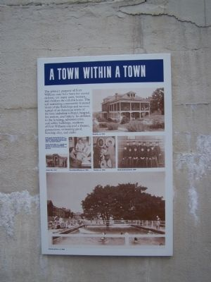 A Town Within a Town Marker