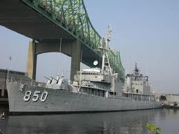 The USS Joseph P. Kennedy Jr. in Battleship Cove, Fall River, MA