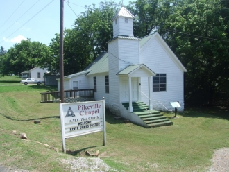 Pikeville AME Zion church today.