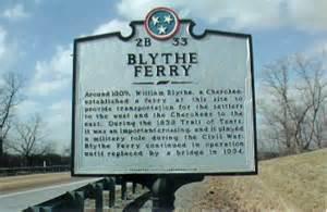 Blythe Ferry historic marker