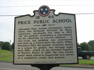 Historic marker to Price Public Elementary School