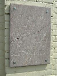 Original plaque commemorating the dedication of Price Elementary in 1923