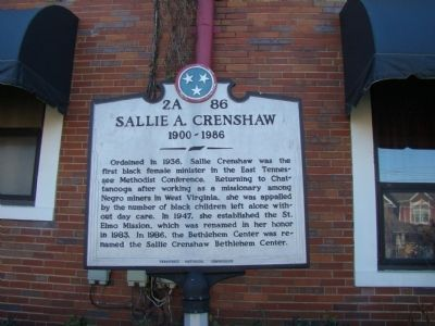 Historical Marker to Salle A. Crenshaw.