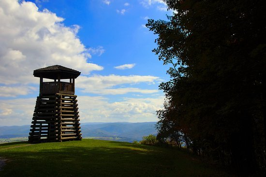 Droop's Lookout Tower was built in the 1930s by the New Deal-era Civilian Conservation Corps.The CCC's activities were the first major updates to West Virginia's first State Park.