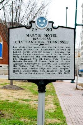 Martin Hotel marker