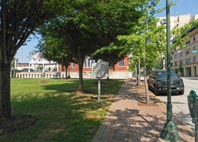 Martin Hotel marker on land where hotel once stood