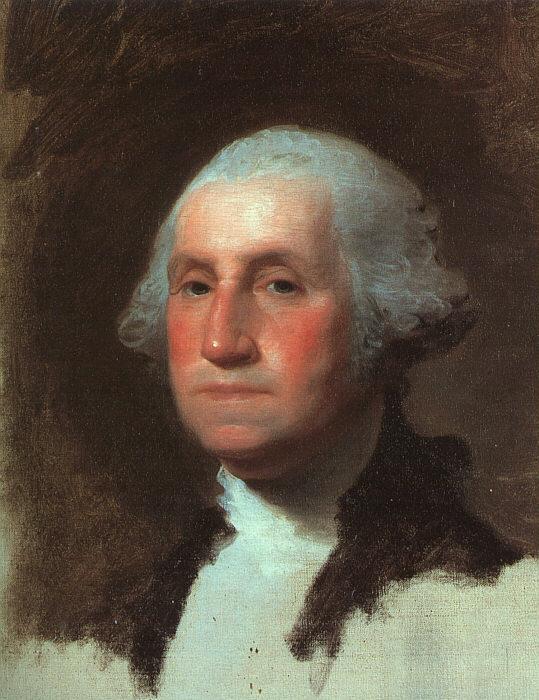 The Athenaeum Portrait of George Washington. Stuart never finished the painting, nevertheless it is regarded as his best one of Washington.