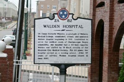 Historic marker for Walden Hospital