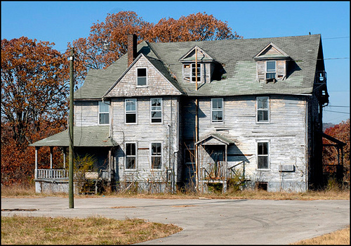 Abandoned housing located at Morristown College
