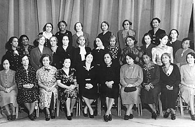 "Bickley, Ancella R. ""Lifting as We Climb."" Goldenseal 30 no. 4 (2004): 54-58. Members of the Charleston Woman's Improvement League in 1928. For a list of the members' names, visit the Goldenseal Article Excerpt link below."