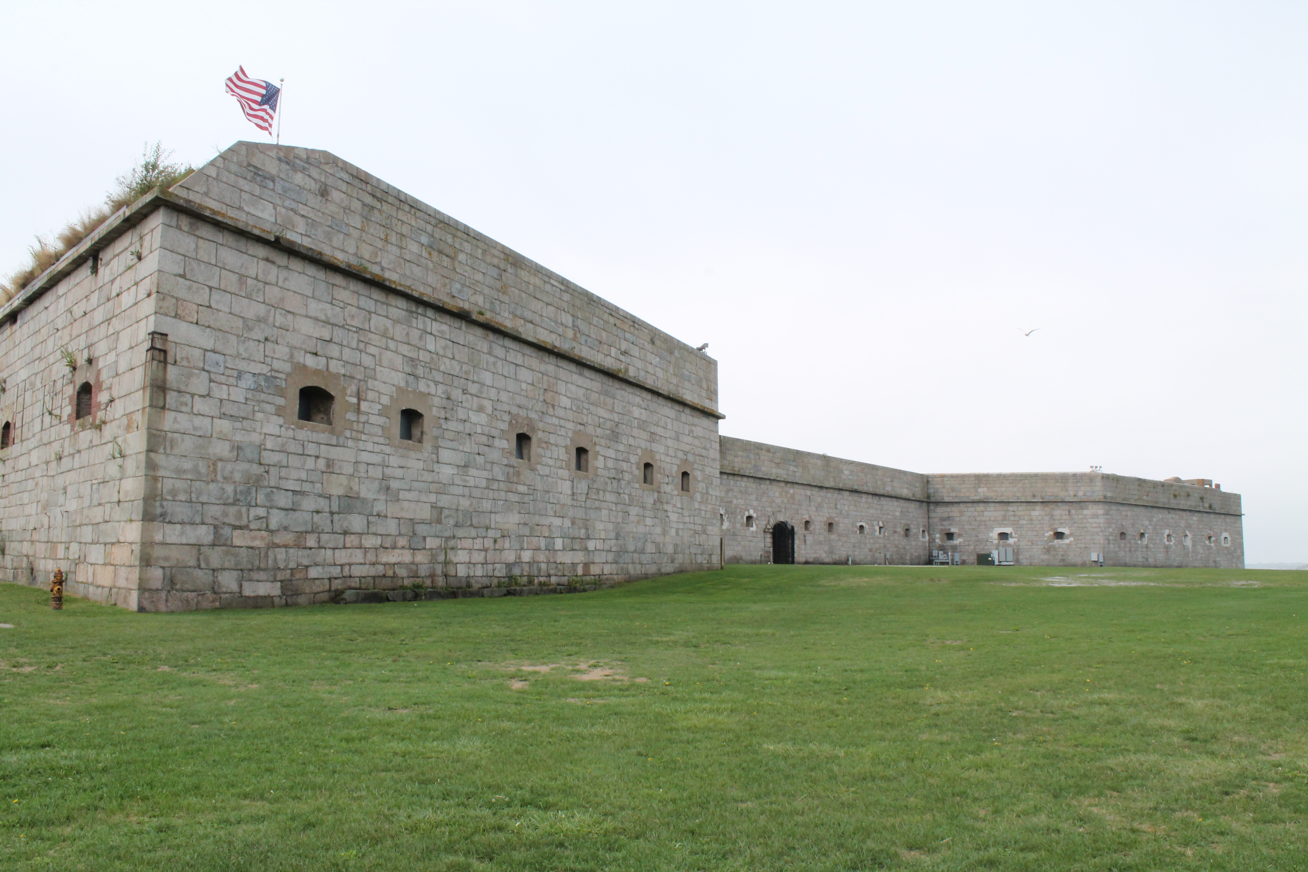 A closer view outside of the fort