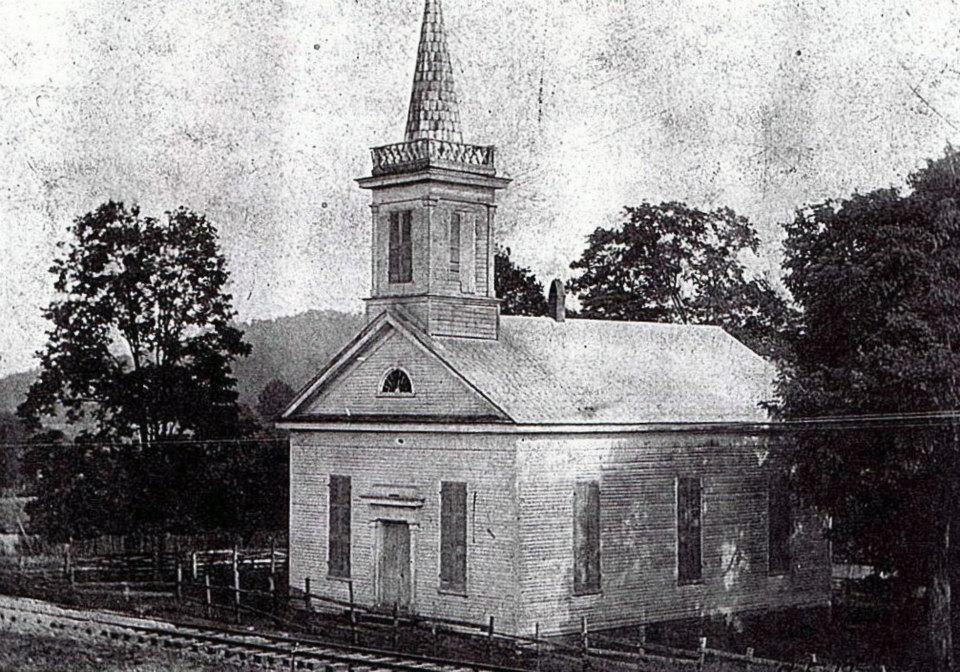 Oldest known photo of Old Kingsport Church. circa 1910