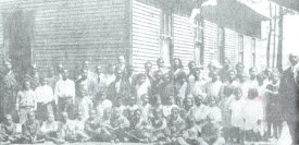 Students of Oklahoma Grove School (now Douglass) in 1921