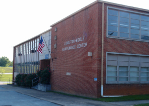 Langston High School, now Johnson City School Maintenance building as it looks today.