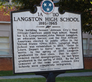 Historical marker to Langston HS