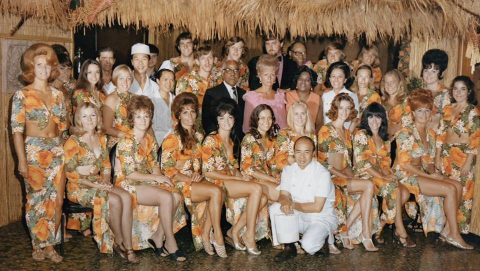 Staff of the Makiki Club, with Ming Eng at left in the white chef hat
