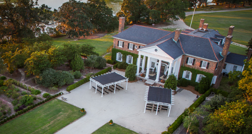 Boone Hall Plantation Arial