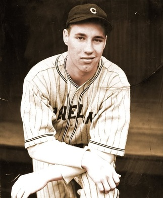 A young Bob Feller poses for the camera