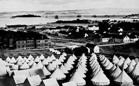 One of the camps at the Presidio