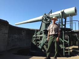 NPS guide with the 50-ton gun atop Chamberlin today