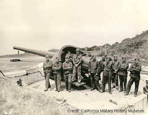 Company D at Battery Chamberlin in 1942