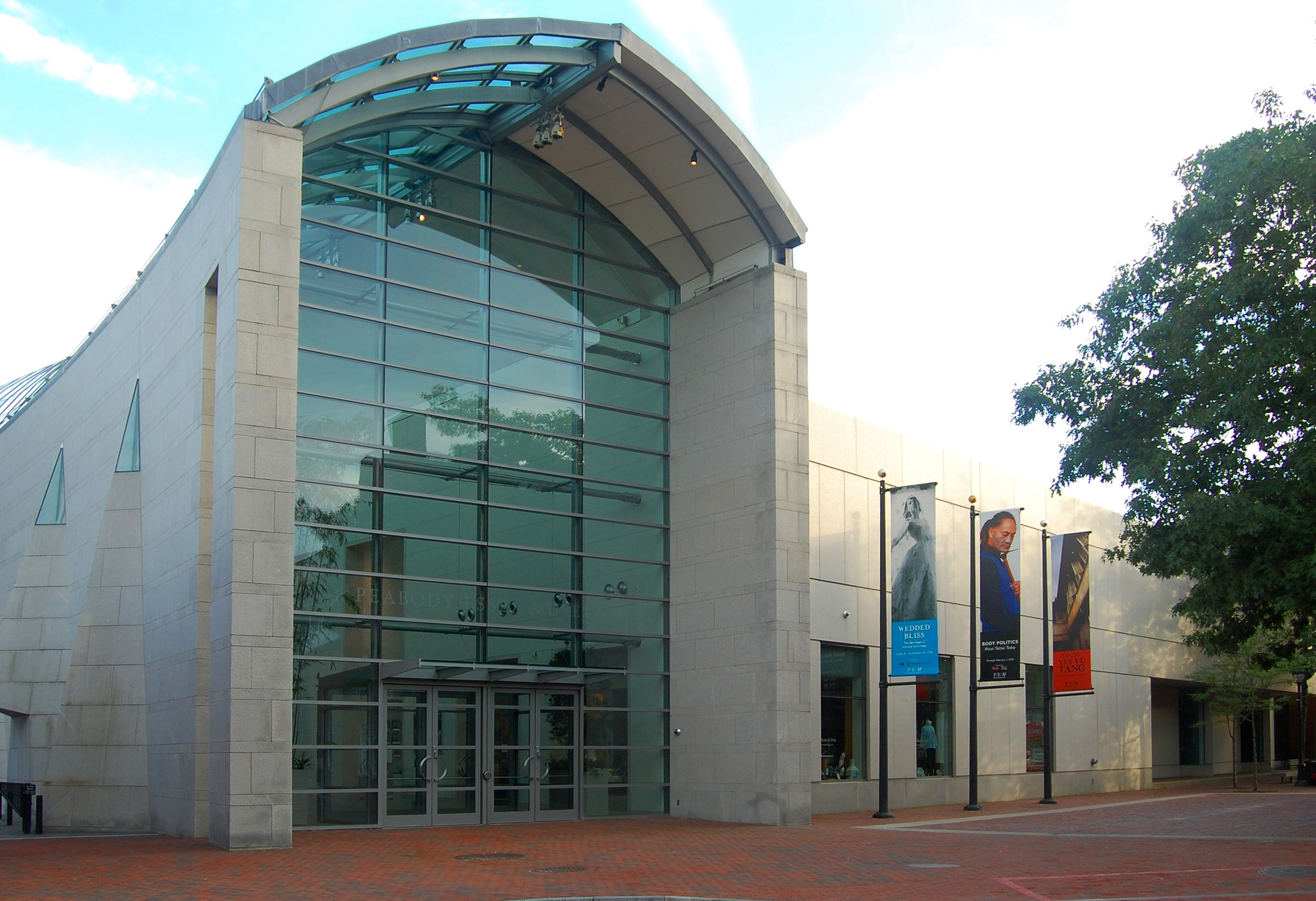 The main entrance to the Peabody Essex Museum.