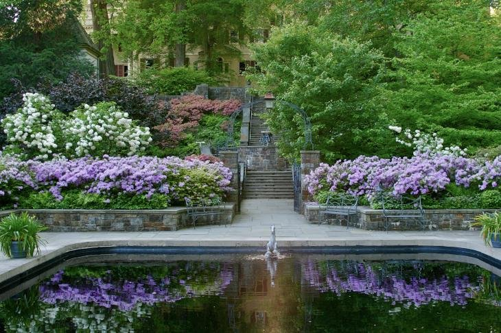 The property also features beautiful gardens