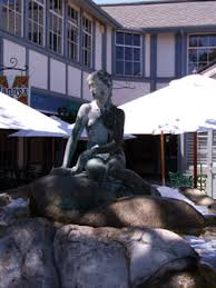 Little Mermaid statue in Solvang