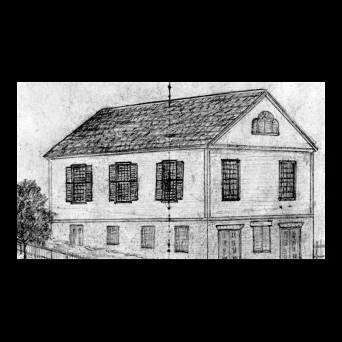 Early Drawing of the Abyssinian Meeting House (1828)