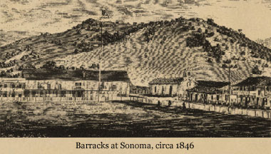1846 sketch of Barracks under American hands.