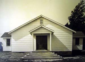 The original church building constructed in 1852