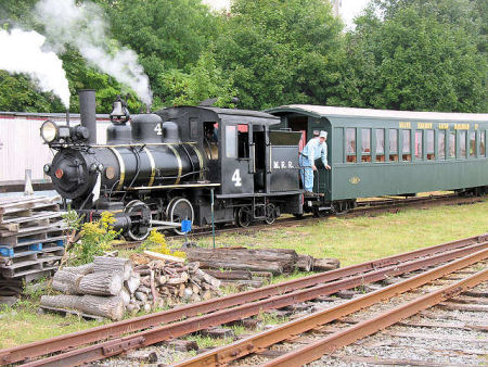 Trains operate daily at the museum