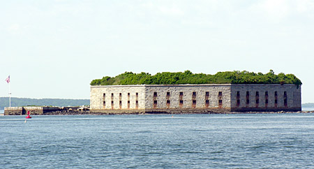 Fort Gorges from Fort Preble