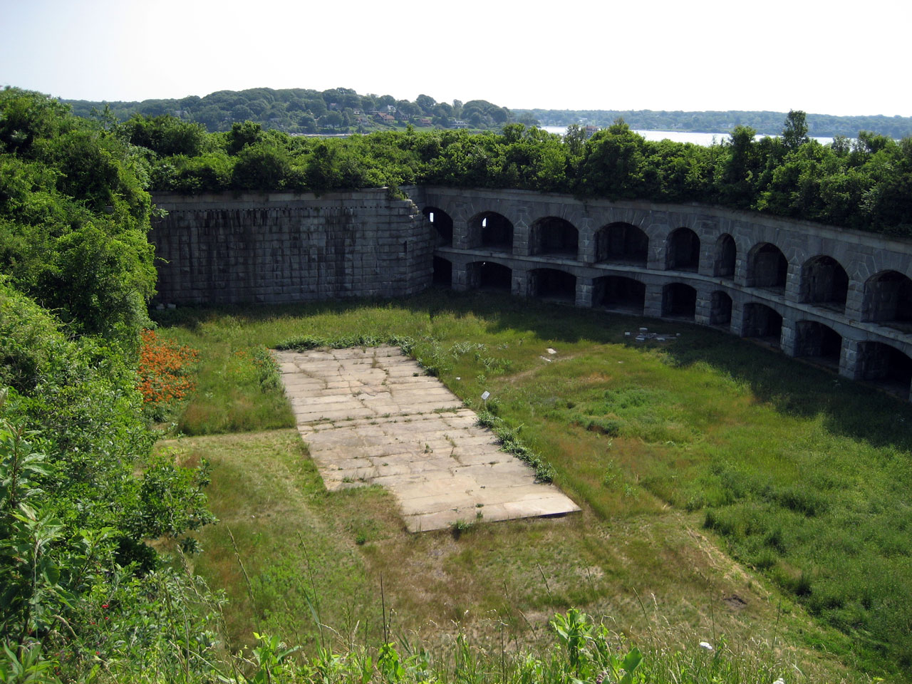 Parade grounds of Fort Gorges